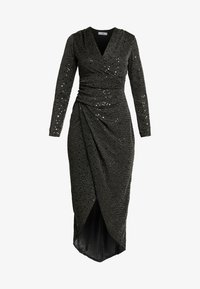 WAL G. - STAR GLITTER WRAP DRESS - Cocktailkjole - black - 5