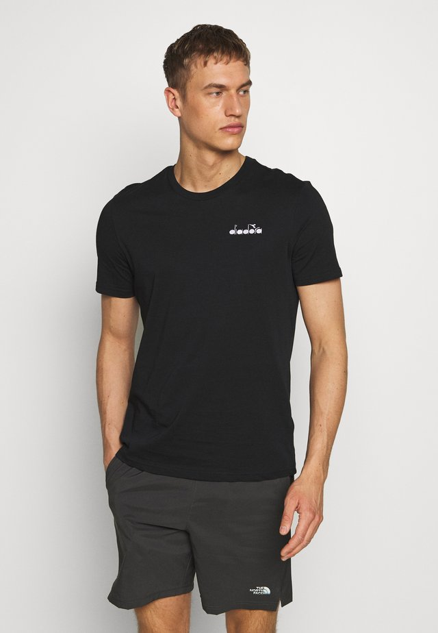 CORE - T-shirt con stampa - black