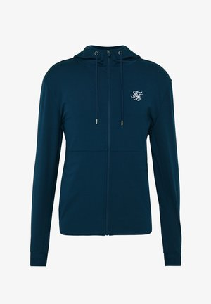AGILITY ZIP THROUGH HOODIE - Trainingsvest - navy
