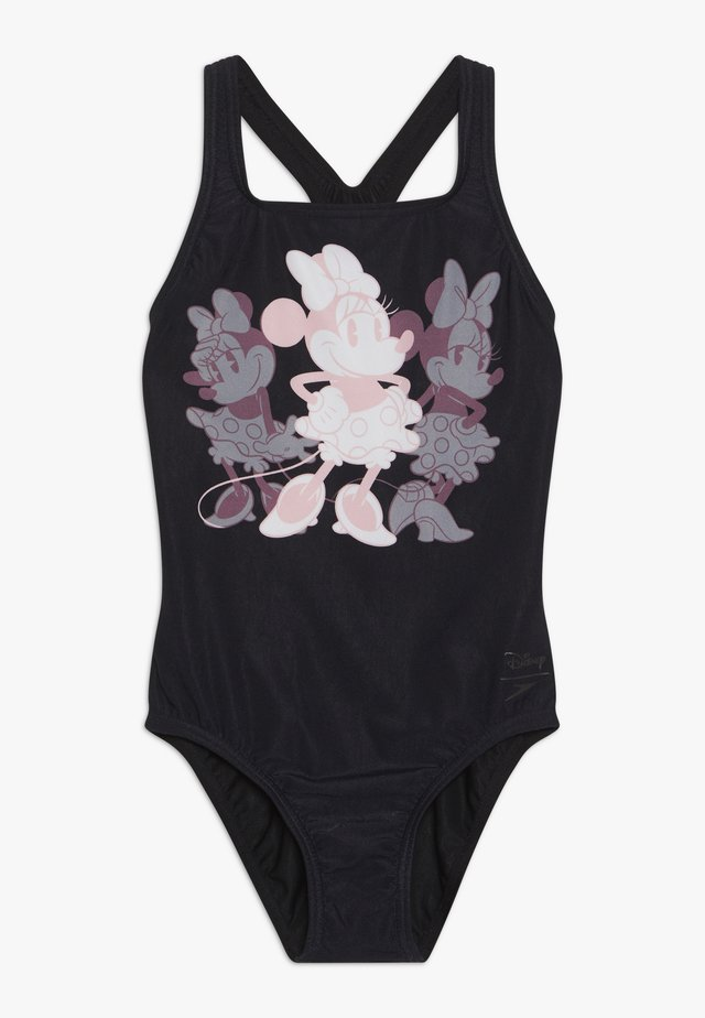 DIGI MEDAL MINNIE MOUSE - Swimsuit - powder blush/black