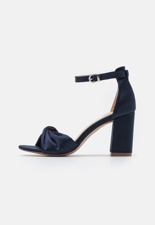 DEB  - High heeled sandals - navy