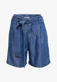 Esprit - PAPERBAG SHORT - Shorts - blue dark wash - 4