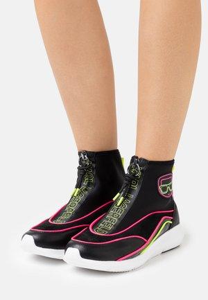 VITESSE IKON NEON ZIP BOOT - Baskets montantes - black/pink