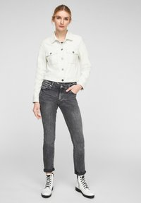 QS by s.Oliver - Faux leather jacket - cream - 1