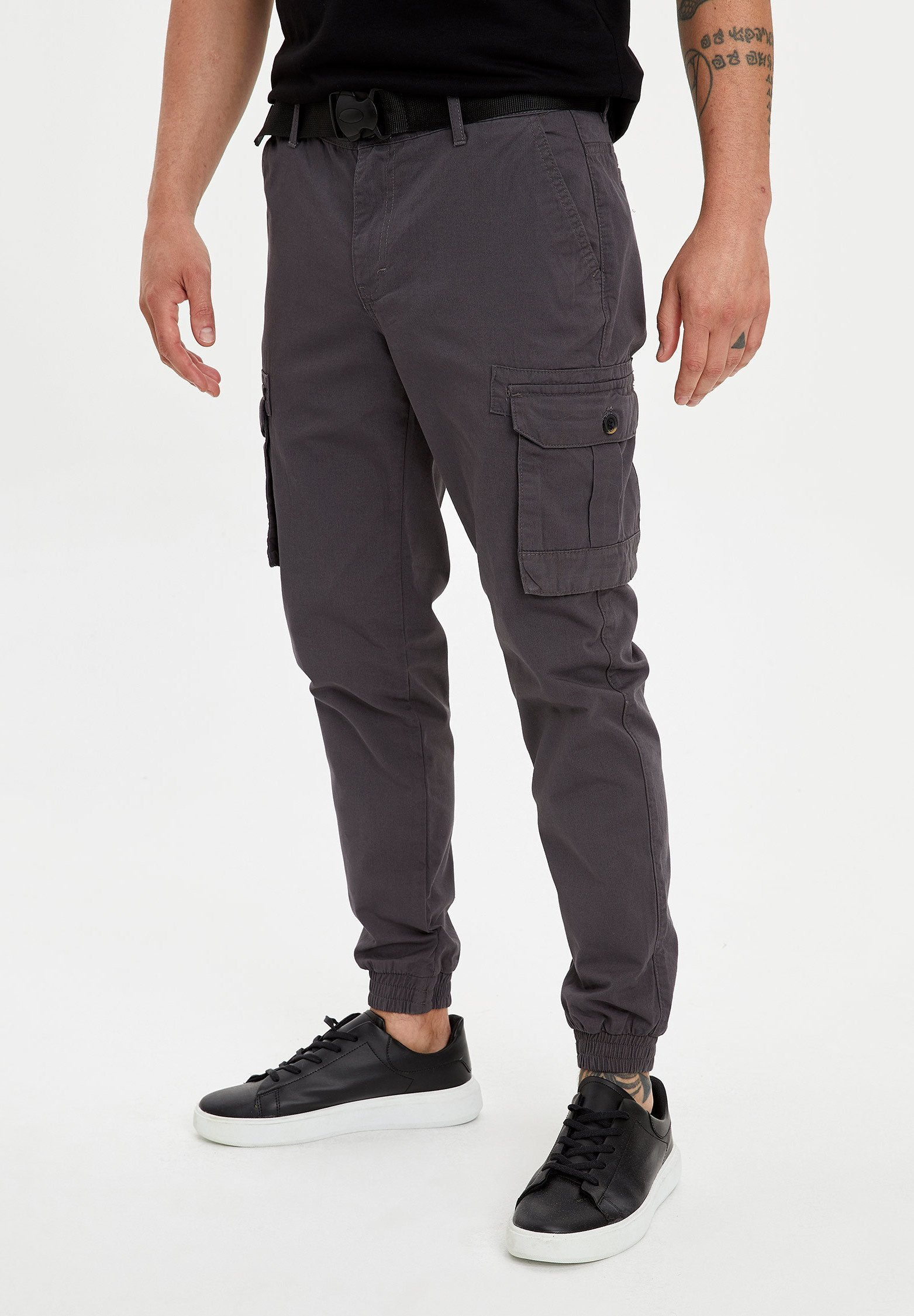 Best Authentic Recommend Men's Clothing DeFacto Cargo trousers anthracite RxCXRez9h Gc6w50MJq