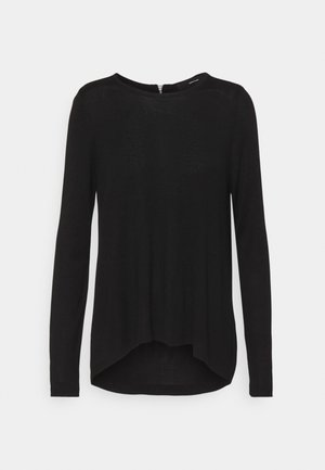 VMVICA ZIPPER BACK - Strickpullover - black