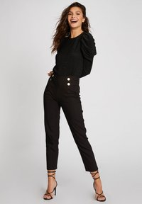 Morgan - WITH PUFF LONG SLEEVES - Long sleeved top - black - 1