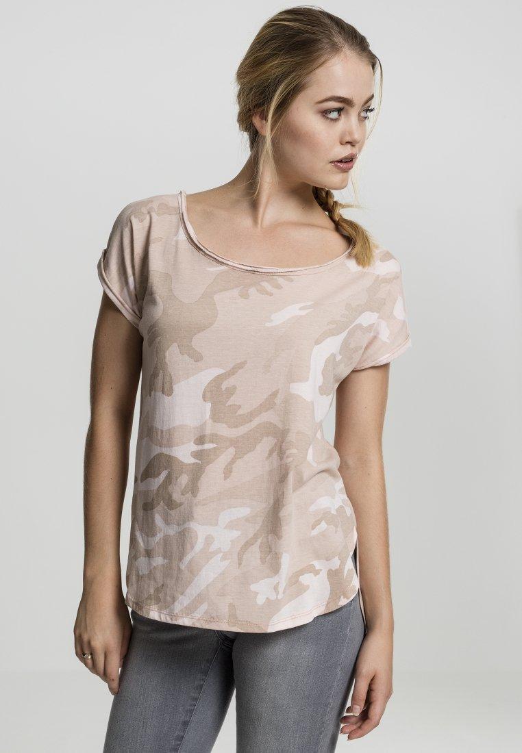 Urban Classics - CAMO  - Print T-shirt - rose camo
