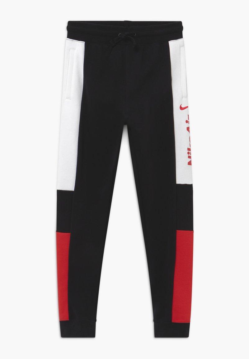 Nike Sportswear - Tracksuit bottoms - black/university red/white