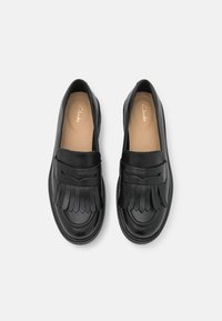 Clarks - ORINOCO LOAFER - Slip-ons - black shine - 5