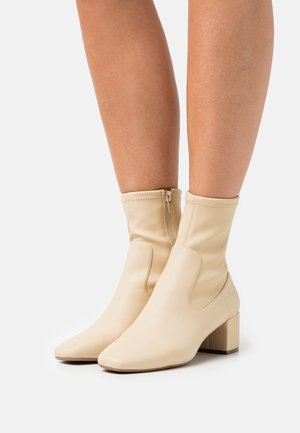 VEGAN KAESSA - Classic ankle boots - light yellow