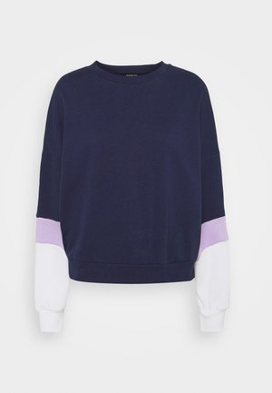 Colour Block Sweatshirt loose fit - Sweatshirt - dark blue
