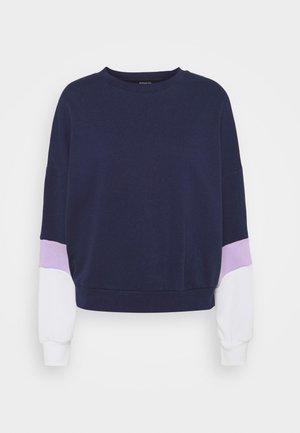 Colour Block Sweatshirt loose fit - Felpa - dark blue