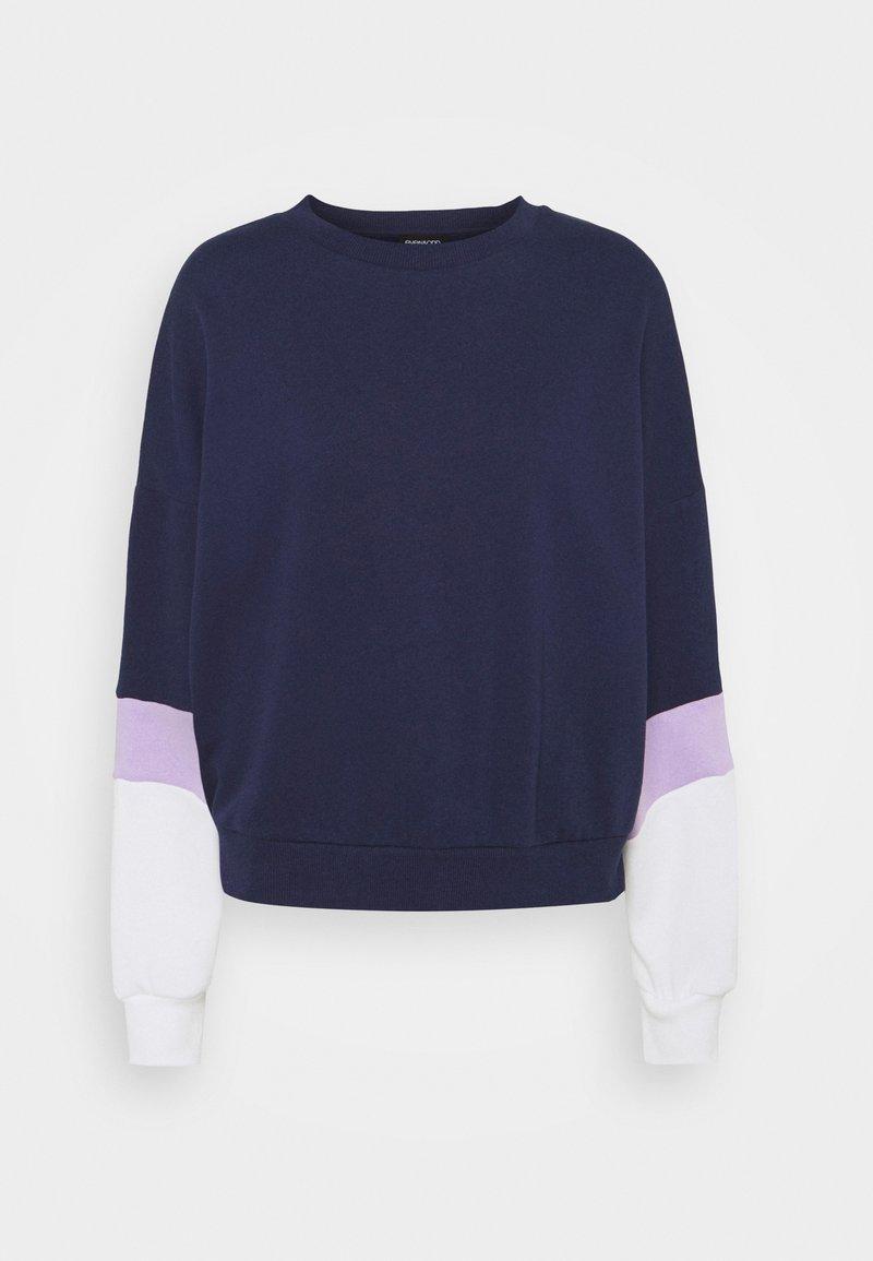 Even&Odd - Colour Block Sweatshirt loose fit - Felpa - dark blue