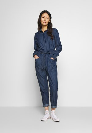 UTILITY - Jumpsuit - dark stone wash denim
