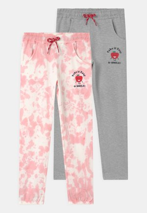 SMALL GIRLS 2 PACK - Tracksuit bottoms - almond blossom