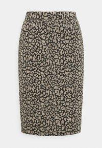 Vila - VIMINNY PENCIL SKIRT - Pencil skirt - black/leo - 0