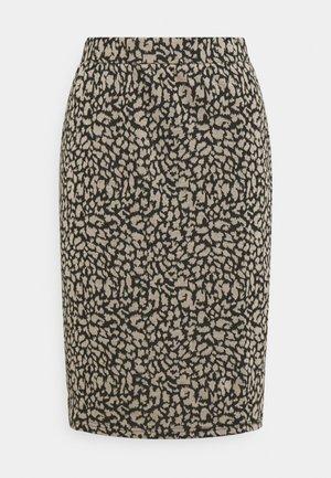 VIMINNY PENCIL SKIRT - Pencil skirt - black/leo