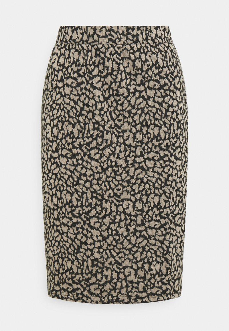 Vila - VIMINNY PENCIL SKIRT - Pencil skirt - black/leo