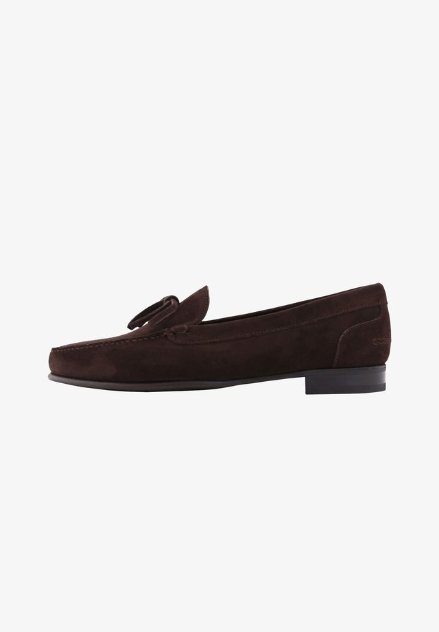 ETON TASSELES - Smart slip-ons - dark brown