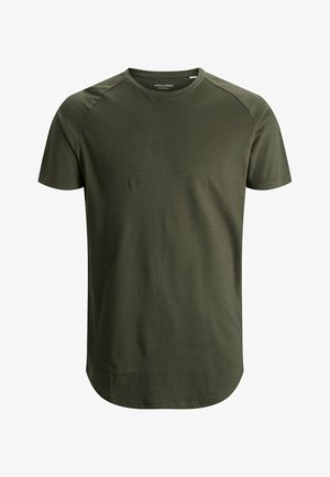 JJECURVED TEE O NECK - T-shirt basique - forest night