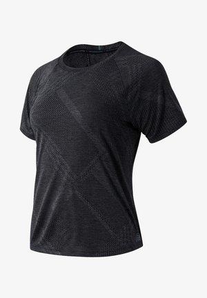 Print T-shirt - black heather