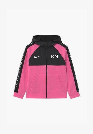 KYLIAN MBAPPE HYBRID HOODIE - Zip-up hoodie - pinksicle/black/white