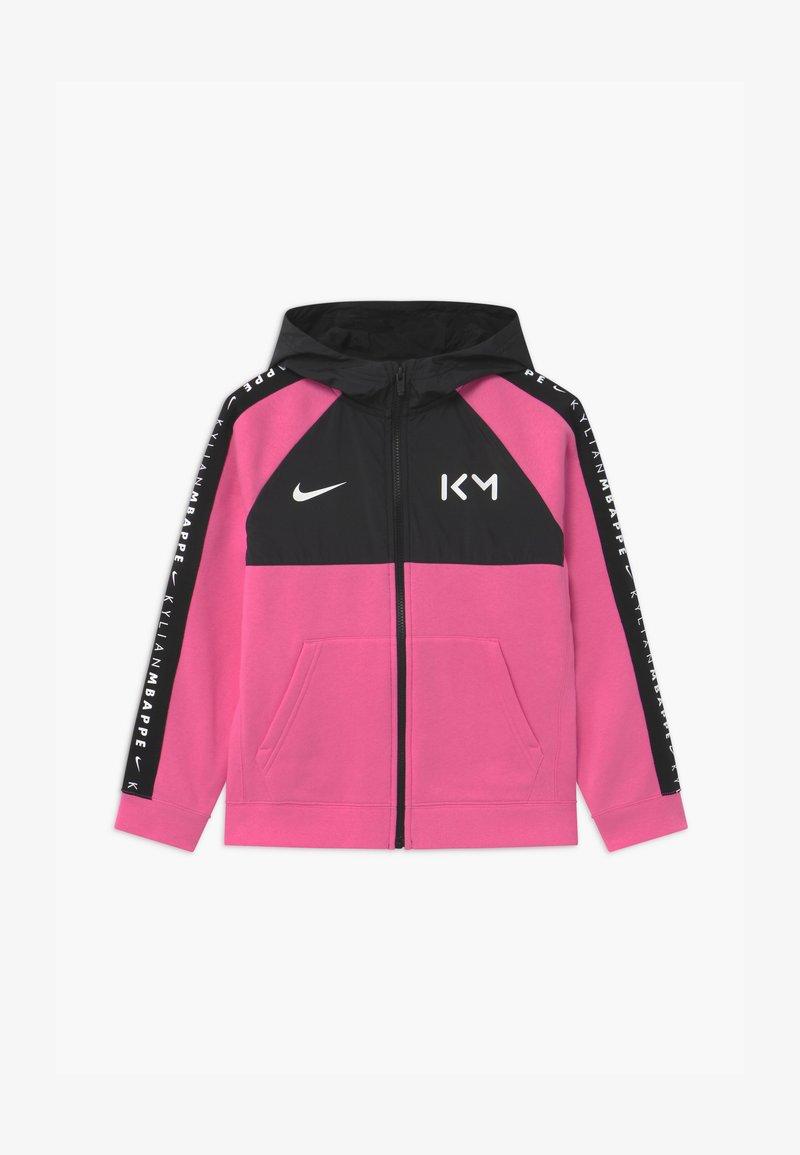 Nike Performance - KYLIAN MBAPPE HYBRID HOODIE - Zip-up hoodie - pinksicle/black/white