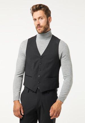 MODERN FIT - Suit waistcoat - schwarz