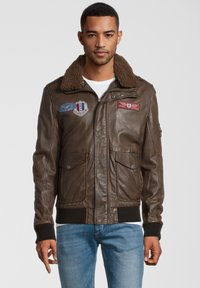 Gipsy - CRUISE - Leather jacket - dark brown - 0