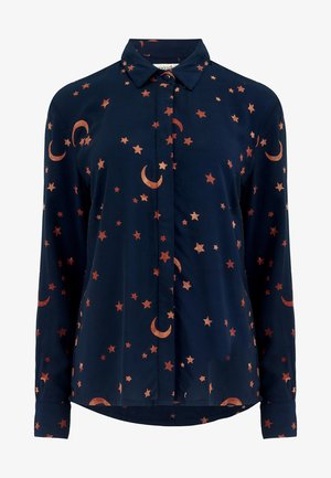 JOY MOONDANCE BATIK - Button-down blouse - navy