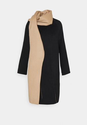 SCARF COAT LUXE NEW - Classic coat - black/palomino