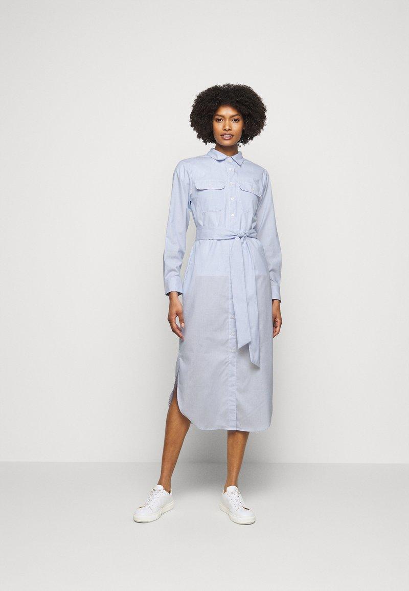 Lauren Ralph Lauren - BROADCLOTH DRESS - Shirt dress - blue/white multi