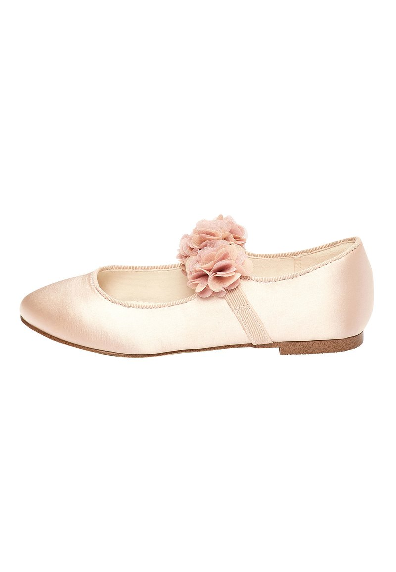 Next - PINK 3D FLOWER BALLET SHOES (OLDER) - Ankle strap ballet pumps - pink