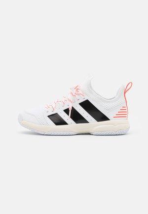 STABIL JR UNISEX - Handball shoes - footwear white/core black/solar red