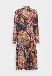 Emily van den Bergh - DRESS - Shirt dress - brown/blue/orange - 3