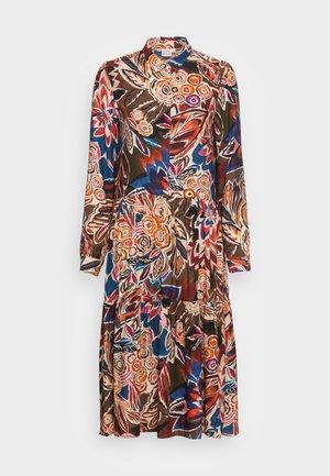 DRESS - Košilové šaty - brown/blue/orange
