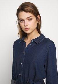 Vila - VIBISTA BELT DRESS - Shirt dress - dark blue - 3