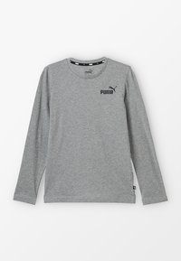 Puma - LOGO LONGSLEEVE  - Long sleeved top - medium grey heather - 0