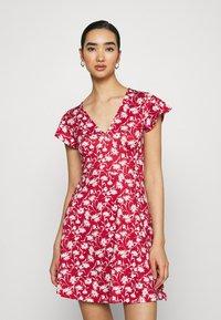 Even&Odd - Jersey dress - red/white - 0