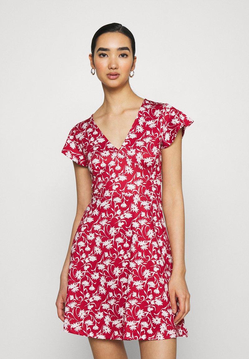 Even&Odd - Jersey dress - red/white