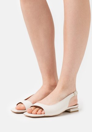 Ankle strap ballet pumps - nacre dream