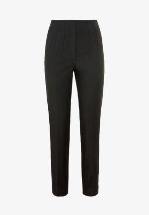 MIT GALONSTREIFEN - Trousers - schwarz