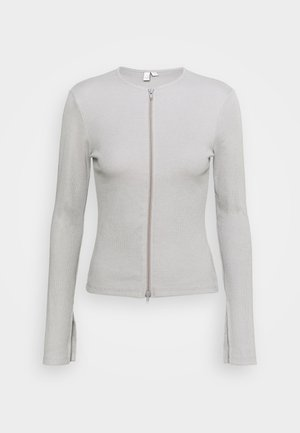 ZIPPED UP  - Cardigan - gray