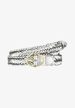 Braided belt - silberfarben