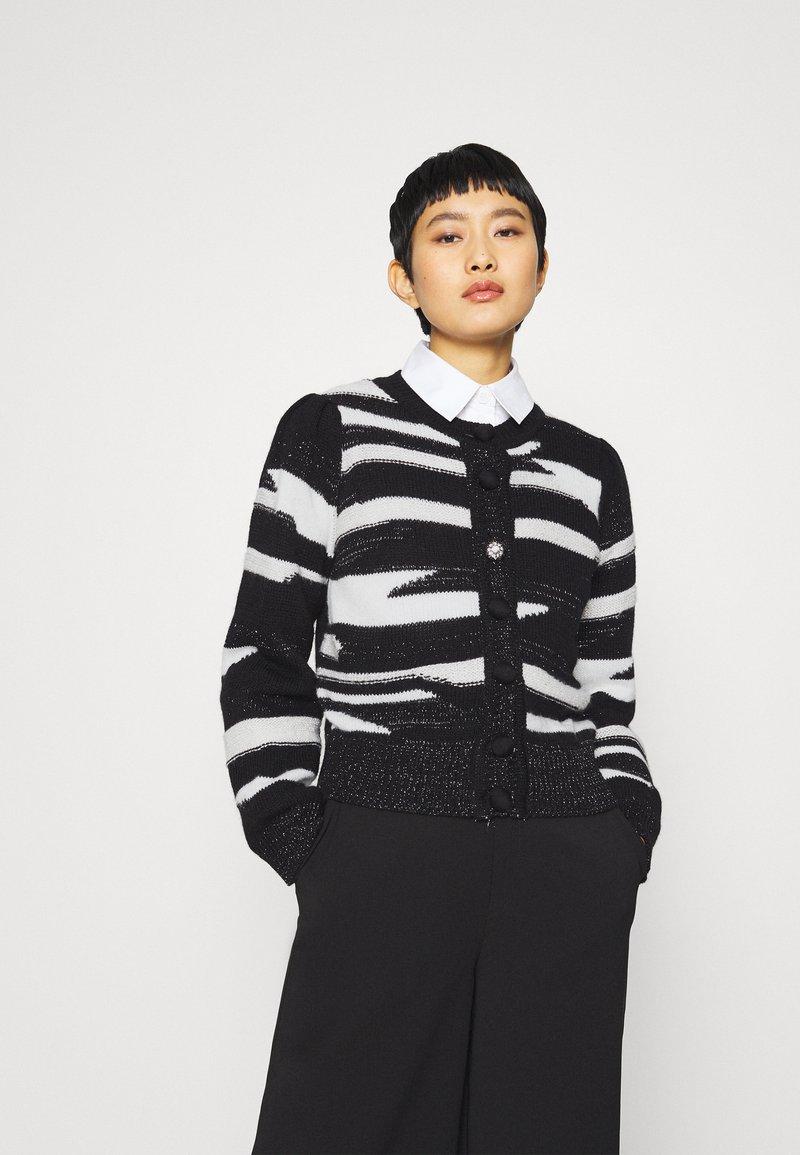 Liu Jo Jeans - MAGLIA CHIUSA  - Cardigan - black/white