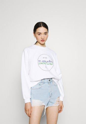 VINTAGE RAGLAN CREW - Sweatshirt - gradient white