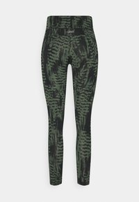 Casall - ICONIC PRINTED 7/8 - Tights - survive dark green - 5