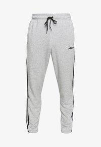 adidas Performance - ESSENTIALS 3STRIPES FRENCH TERRY SPORT PANTS - Tracksuit bottoms - medium grey heather/black - 3