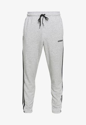 ESSENTIALS 3STRIPES FRENCH TERRY SPORT PANTS - Træningsbukser - medium grey heather/black